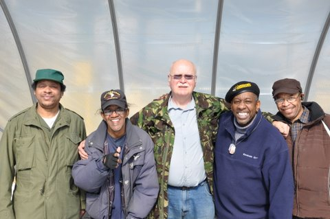 American Veterans living in the Bronx participate in Bissel Garden's American Veterans Training Program